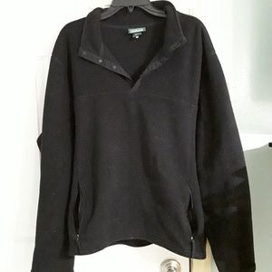 LL Bean black fleece jacket